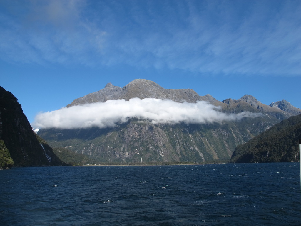 Low clouds at Milford Sound