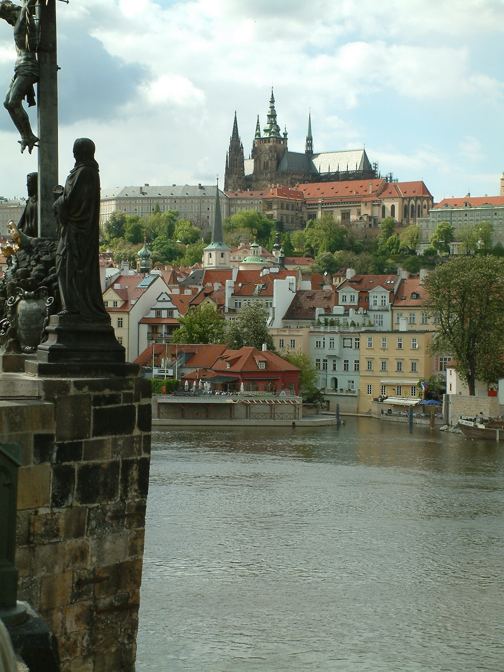 View from Charles Bridge, Prague, CZ